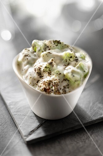 Cucumber in cream with thyme
