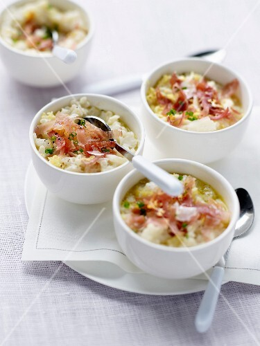 Risotto with Aoste ham and parmesan