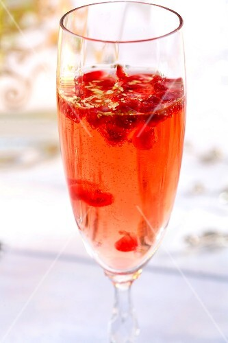 Pink Champagne cocktail