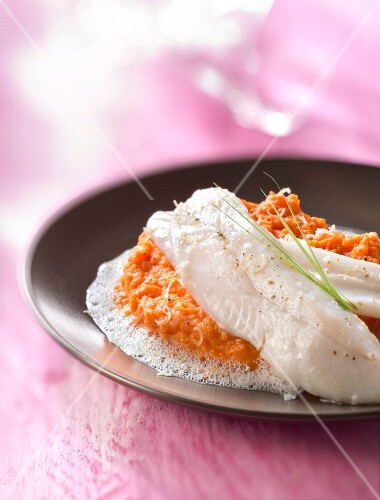 John Dory with carrot mousseline