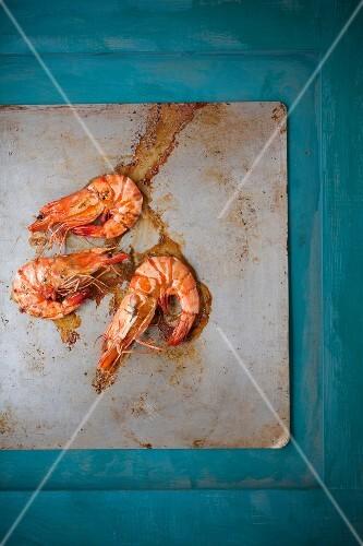 Oven-roasted gambas