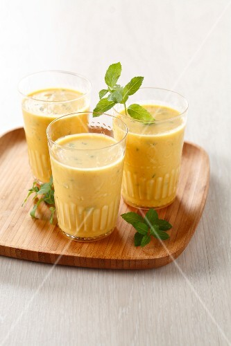 Mango and mint Lassi