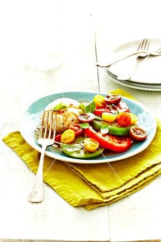 Mozzarella di bufala and tomato Caprese salad