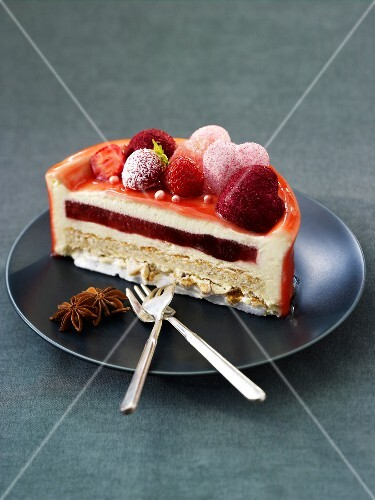 Summer fruit layered dessert