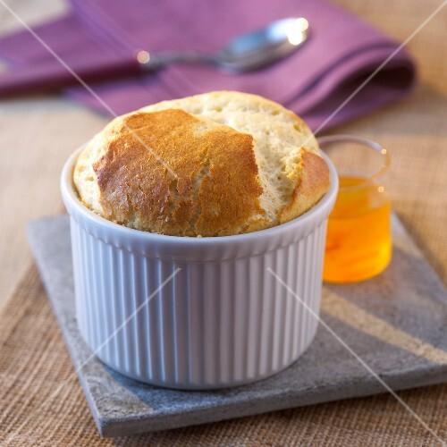 Small vanilla soufflé