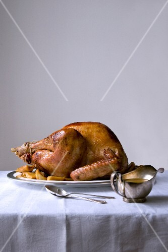 Roasted turkey with maple syrup