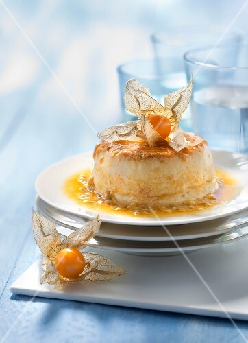 Caramel,kumquat and passionfruit custard cream