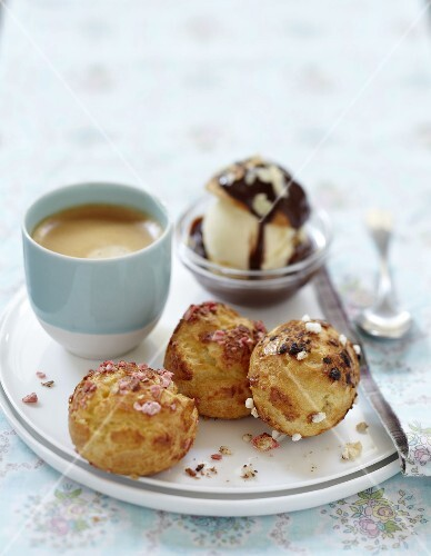 Pastry puffs gourmet coffee