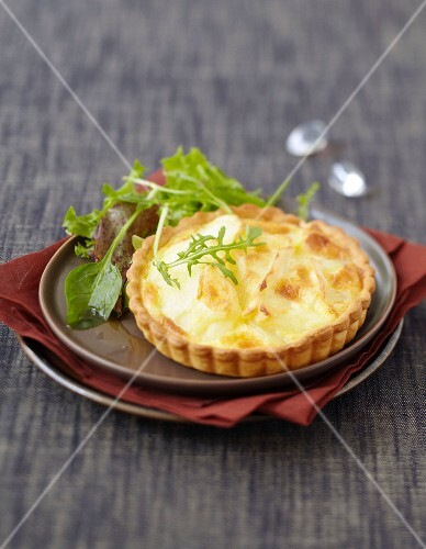 Potato and Brie tartlet