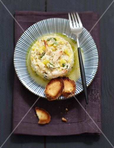 Crab and yuzu Timbale