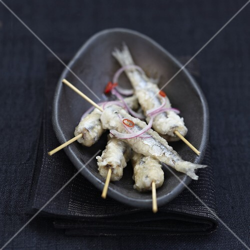 Pickled anchovy fried Yakitoris