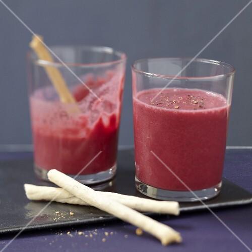 Beetroot and yoghurt gazpacho