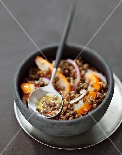 Lentil and haddock salad