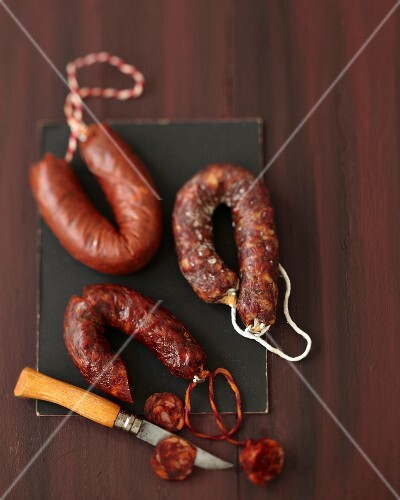 Still life with Chorizo sausages