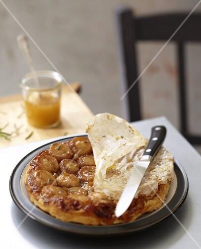 Turnip and rosemary savoury tatin tart