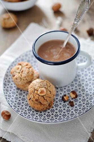 Hazelnut shortbread cookies