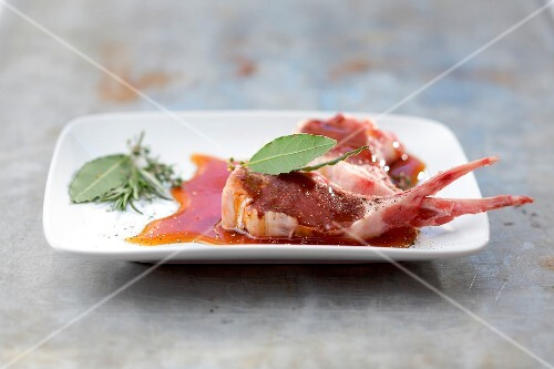 Meat in a carmelized marinade