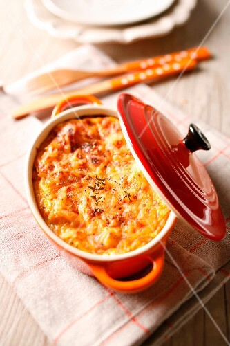 Pumpkin and cheese gratin