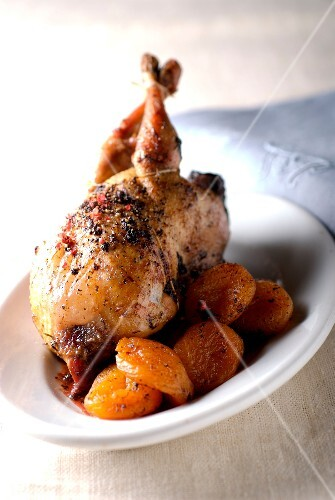 Sauteed turkey with 4 spices and soft pumpkin