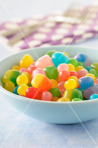 Bowl of round jelly beans