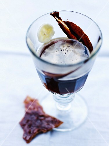 Glass of coffee liqueur