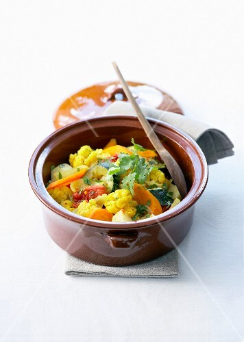 Vegetable curry casserole
