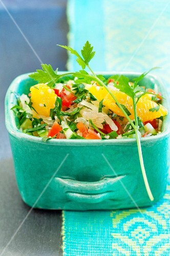 Citrus fruit and herb salad