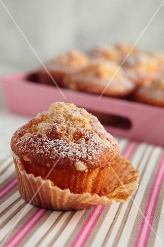 Almond and sugar drop muffins