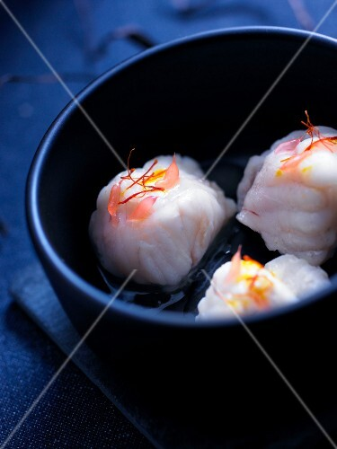 Monkfish,grapefruit and saffon bites