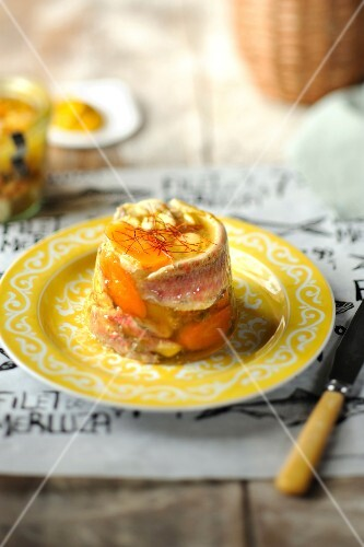Bouillabaisse in aspic