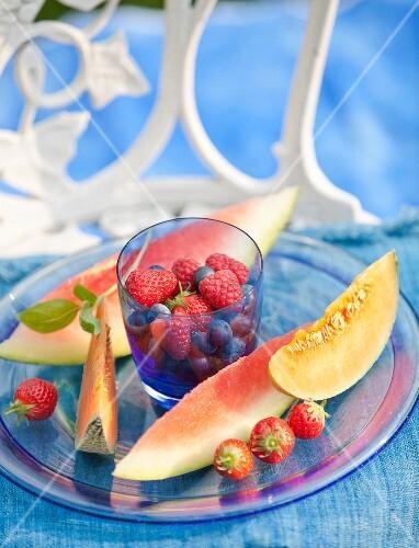 Plate of fresh fruit