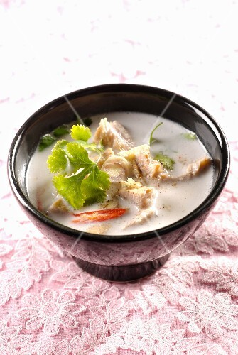 Pork and coconut milk soup