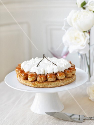 Saint Honore cakes with cream (France)