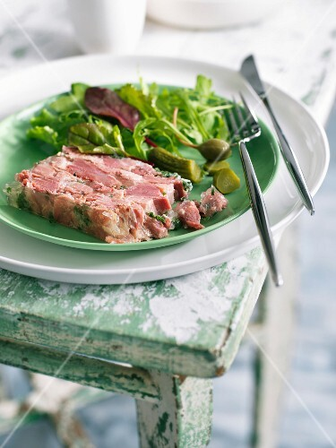 Parsley ham terrine