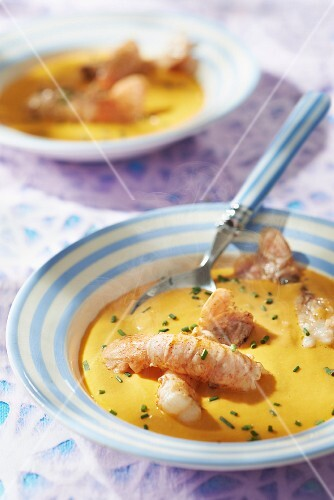 Dublin Bay prawn and Calvados bisque