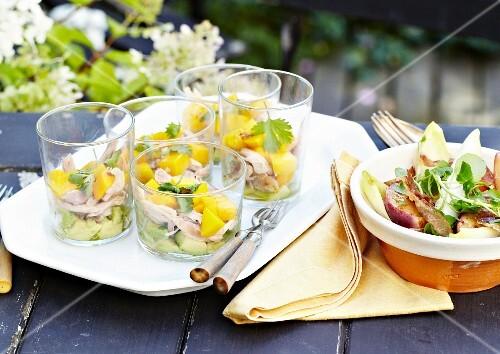 Smoked chicken,mango and lime salad
