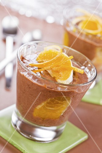 Chocolate and orange mousse