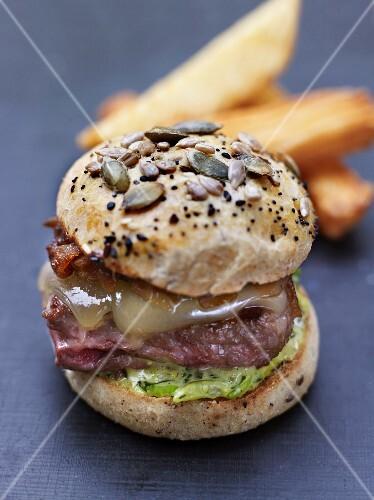 Revisited duck magret mini burger