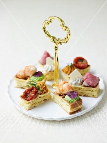 Mini savoury waffles