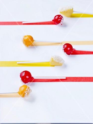 Tutti frutti iced pops