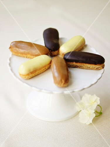 Different flavored Eclairs