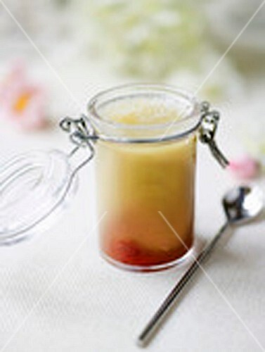 Rhubarb and stewed strawberry jelly