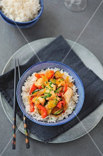 Chinese style chicken with rice
