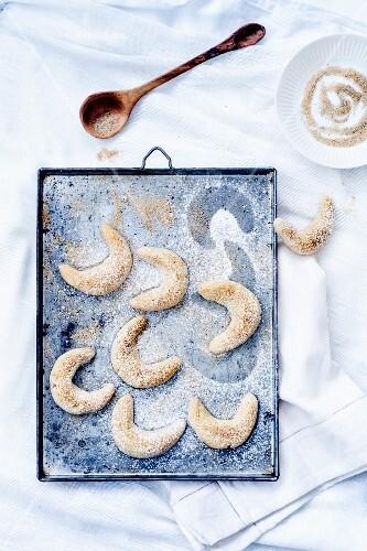 Cornes de gazelle-style vanille-flavored shortbreads
