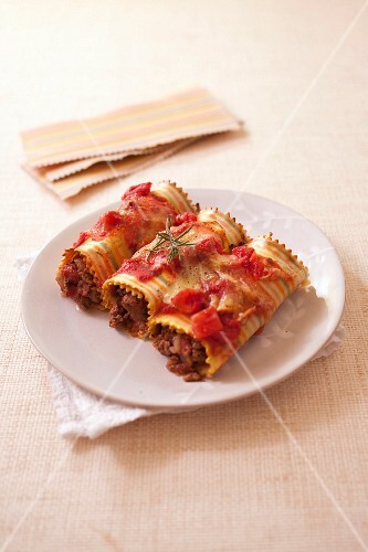 Beef cannellonis