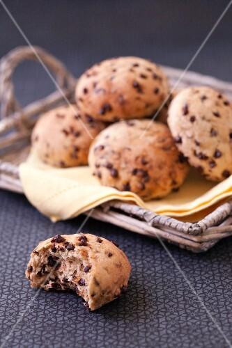 Chocolate chip milkbread buns