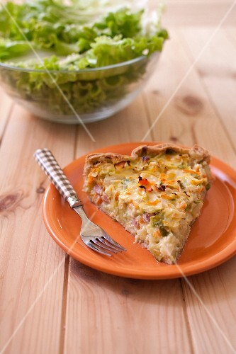 Chou pointu,carrot and diced bacon quiche