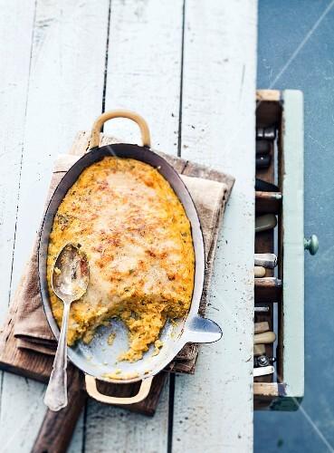 Sweet potato and coconut milk gratin