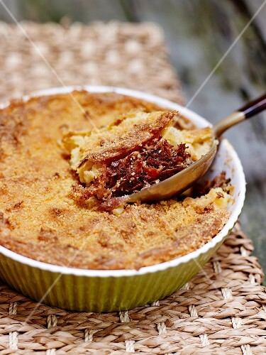 Parmentier (French potato bake) with Bali-style duck
