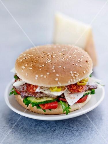 Pork Burger with Brebis cheese